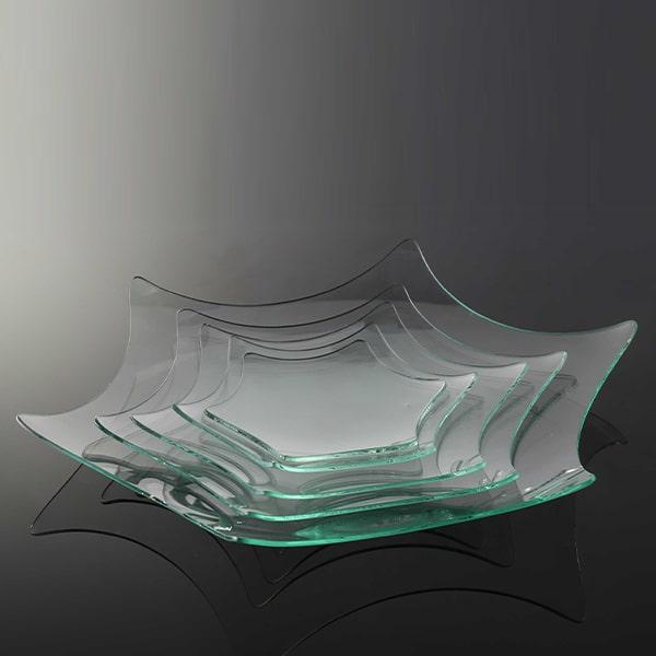 ظرف شیشه ای ستاره ای تزئینی خام