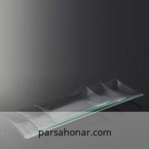 ظرف شیشه ای رولت خوری ساده خام