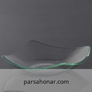 ظرف شیشه ای دکوری خام