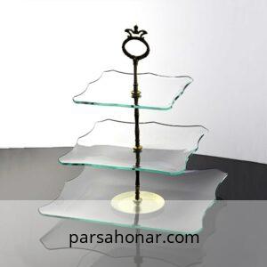 ظرف سرو شیشه ای هشت حلال