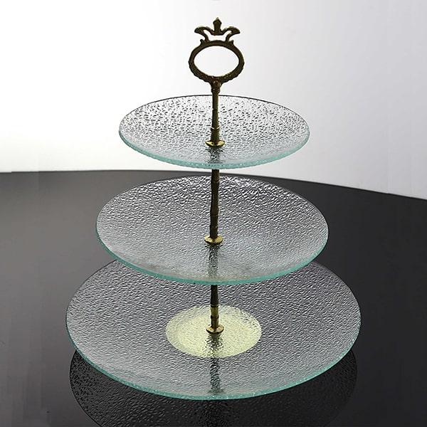 ظرف شیشه ای سرو دایره مشجر
